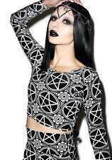 Killstar Pentagram Velvet Crop Top: Large