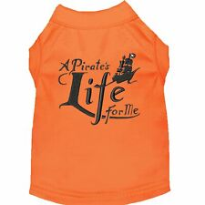 Mirage Pet Products A Pirate's Life Embroidered Dog Shirt Orange Lg (14)