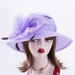 Womens Dress Formal Church Wedding Kentucky Derby Tea Party Sun Hats X737
