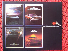 1969 Plymouth brochure Fury / Belvedere / Barracuda / Valiant and more