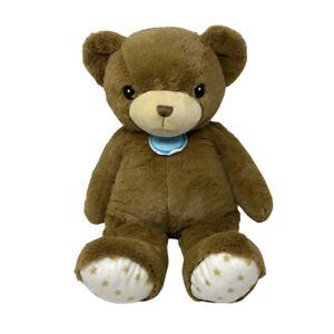 "Cloud B Hugginz Large Bear Brown Teddy Stars Feet Plush Stuffed Baby Toy 21"""