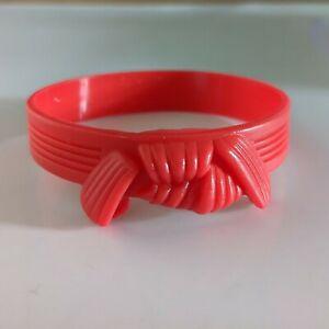 Jujutsu Red Belt Silicone Grading Wrist Band