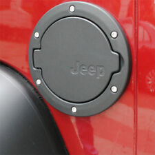 2007-2015 Jeep JK WRANGLER Aluminum Steel Black Gas Fuel Cap Door Tank Cover
