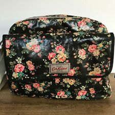 Cath Kidston Black Rose Baby Changing Messenger Bag with Mat and Zipped Pouch