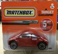 2000 Matchbox Target Exclusive VW Concept 1 Beetle Red Short Card