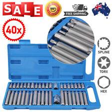 40Pcs Hex Star Torx Socket Bit Set Tool Kit 1/2inch 3/8inch Drive AU
