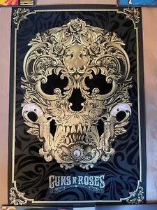 GUNS N' ROSES Flocked 24x36 Screenprint Poster | ANTHONY PETRIE | #/200 IN HAND!