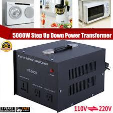 Voltage Converter 5000 Watt Transformer Step Up/Down 5000W Heavy Duty 110V⇋220V