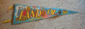 Vintage 1970s Land of Oz Theme Park Pennant Beech Mountain NC Wizard Souvenir