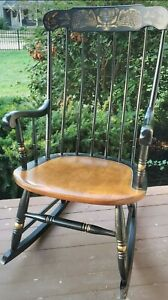 Stenciled L. Hitchcock Rocking Chair