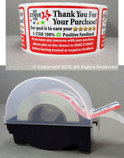250 eBay Thank You For Your Purchase FB Shipping Stickers 2x3 & LABEL DISPENSER