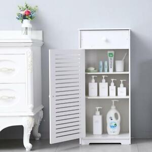 Bathroom Toilet Slender Floor cabinet Narrow Storage Cabinet w/ Drawers
