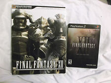 Final Fantasy XII 12 Collector's Ed Steelbook PS2 Complete + Limited Ed. Guide