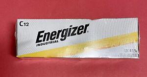 C Batteries Energizer Industrial 12 Pack New (EN93, LR14)