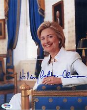 HILLARY RODHAM CLINTON, 8X10 SIGNED PHOTO. PSA/DNA #:K71611