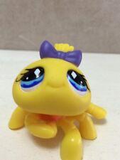 Littlest Pet Shop Bug Spider Yellow Blue Diamond Eyes Purple Bow Orange #593