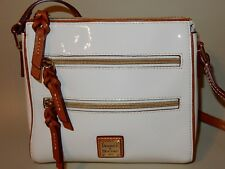 Dooney & Bourke Patent Leather Peyton Triple Zip Crossbody in White