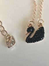 made with swarovski black swan necklace #3-07