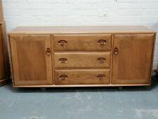 Vintage ERCOL WINDSOR SIDEBOARD - 2 cupboard 3 door - a design classic