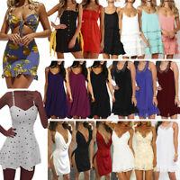Women Summer Short Mini Dress Beachwear Bikini Cover Up Casual Swimwear Sundress