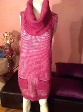 MINTAS Hot Women Winter Sleeve LESS  Knitted Pullover Sweater MINI Dress SZ S