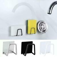 Stainless Steel Kitchen Sink Drain Rack Self Adhesive Storage Sponge Holder P0C0