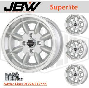 7x 13 Superlite Wheels Classic Triumph 4x95.25 PCD Set of 4 Silver