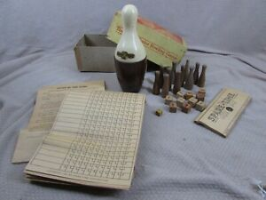 Spare Time Parlor Bowling Game 1940's