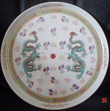 Authentic Cinese Drago verde vassoio in ceramica