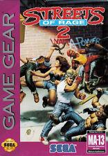 Encadrée sega game gear jeu imprimé – streets of rage 2 (jeux d'arcade classique)