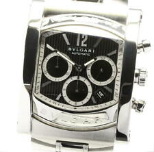 BVLGARI Assioma AA48SCH Date Chronograph black Dial Automatic Men's Watch_561701