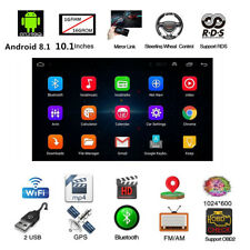 "Android 8.1 BT Car Stereo Radio 2 DIN 10.1"" MP5 Player GPS Wifi DAB Mirror Link"