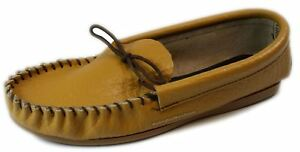 Coopers Moccasin Tan Slip on Moccasins Slippers Handmade in England
