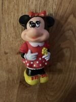 VINTAGE MINNIE MOUSE TOOTSIE TOY THE WALT DISNEY COMPANY 1986 BUBBLE WAND FIGURE