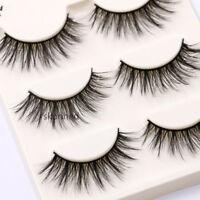SKONHED 3 Pairs  Messy Wispy Mink Hair Lashes False Eyelashes  Makeup Tools