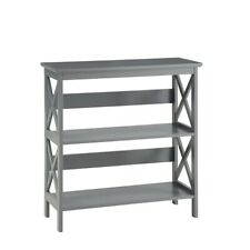 Convenience Concepts Oxford 3 Tier Bookcase, Gray - 203030GY