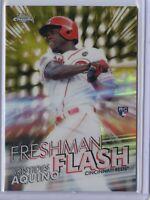 2020 Topps Chrome ARISTIDES AQUINO GOLD Freshman Flash /50 - Cincinnati Reds