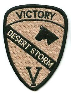 Desert Storm Gulf Guerre Trophy '90 à Repasser Victoire Patch :1ST Cavalry First