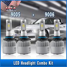 Combo 9005 9006 LED Headlight Kit 6K Bulbs for GMC Sierra 1500 2500 HD 2001-2006