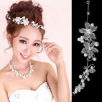Beautiful Sweet Rhinestone Pearl Flower Wedding Bridal Headband Hair Band Tiara