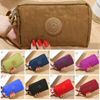 Women Lady Zip Canvas Clutch Coin Phone Card Holder Bag Long Purse Wallet US NEW