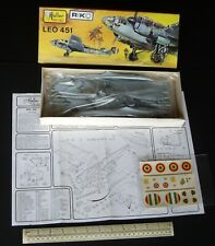 1970s Vintage Heller France 1:72 Leo 451 French Medium Bomber WW2. First Issue