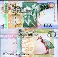 SEYCHELLES 50 RUPEES 2011 P 43 UNC