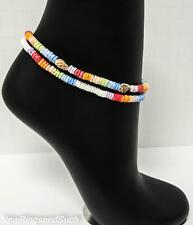 Smooth Shell Choice of 1 or 2 Puka Shell Anklet Ankle Bracelet Surfer Beach