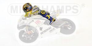 Valentino Rossi Riding Figurine Gp Estoril Motogp 2009 1:12 Model Minichamps