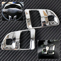 2x Chrome Steering Wheel Trim Interior Cover trimming Fit 2011-15 Kia Sportage R