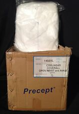 PRECEPT COOLWEAR COVERALL OPEN WRIST / ANKLE WHITE 25/CS XL