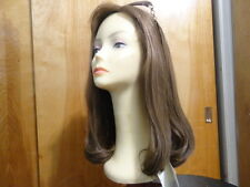 "New Malky 100%  Remy Human Hair Wig Sheitel 18""  Light Brown& Highlights 14-8"