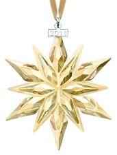 SWAROVSKI #1092040 SCS 2011 CHRISTMAS ORNAMENT BNIB GOLDEN SNOWFLAKE RARE F/SH