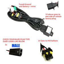 H13 9008 BI-XENON HID RELAY WIRING HARNESS W/ FUSE (Fits Bixenon Bulbs Only)